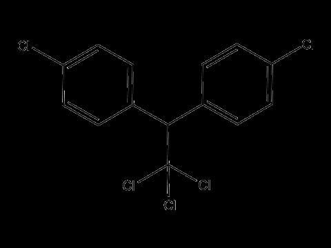 ДДТ (дихлордифенил трихлорметилметан) - Структурная формула