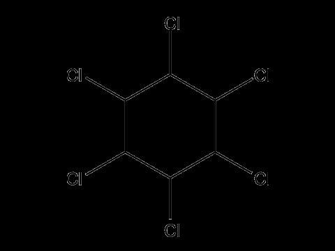 ГХЦГ (Гексахлоран) - Структурная формула