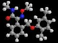 Димоксистробин - Трехмерная модель молекулы