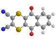 Дитианон - Трехмерная модель молекулы