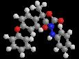 Фамоксадон - Трехмерная модель молекулы