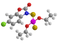 Фозалон - Трехмерная модель молекулы