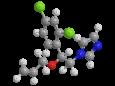 Имазалил - Трехмерная модель молекулы