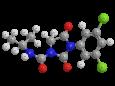 Ипродион (Ровраль) - Трехмерная модель молекулы