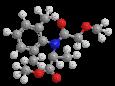 Металаксил - Трехмерная модель молекулы