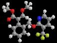 Пикоксистробин - Трехмерная модель молекулы