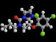 Прохлораз - Трехмерная модель молекулы
