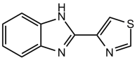 Тиабендазол - Структурная формула