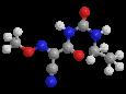 Цимоксанил - Трехмерная модель молекулы