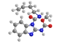 Беномил (Фундазол) - Трехмерная модель молекулы