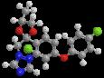 Дифеноконазол - Трехмерная модель молекулы