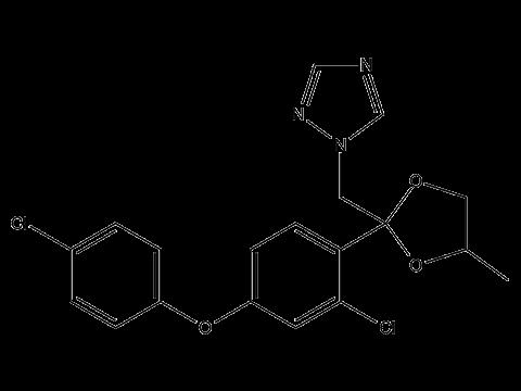 Дифеноконазол - Структурная формула