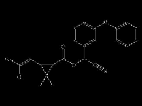 Альфа-циперметрин - Структурная формула
