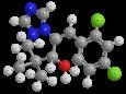 Диниконазол - Трехмерная модель молекулы