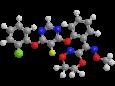 Флуоксастробин - Трехмерная модель молекулы