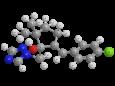 Тритиконазол - Трехмерная модель молекулы