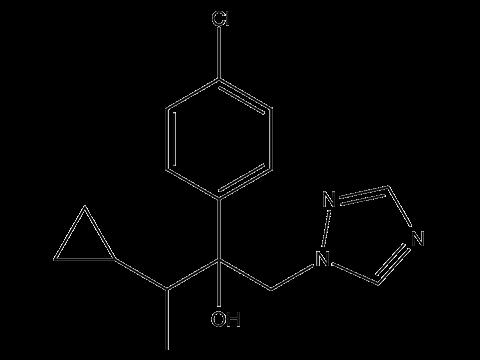 Тритиконазол - Структурная формула