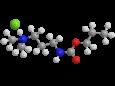 Пропамокарб гидрохлорид - Трехмерная модель молекулы