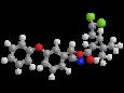 Бета-циперметрин - Трехмерная модель молекулы