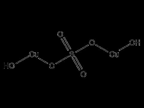 Бордоская жидкость (меди сульфат + кальция гидроксид) - Структурная формула