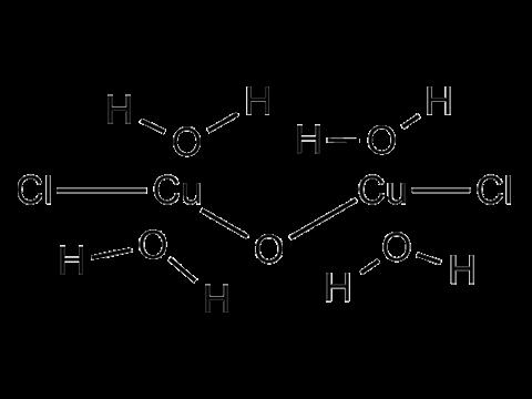 Меди хлорокись - Структурная формула