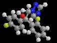 Флутриафол - Трехмерная модель молекулы