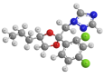 Пропиконазол - Трехмерная модель молекулы