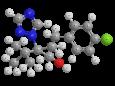Тебуконазол - Трехмерная модель молекулы