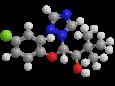 Триадименол (Байтан) - Трехмерная модель молекулы