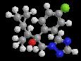 Ципроконазол - Трехмерная модель молекулы
