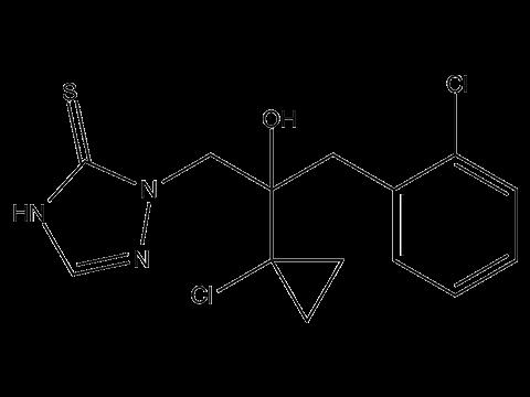 Протиоконазол - Структурная формула