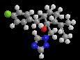 Ипконазол - Трехмерная модель молекулы