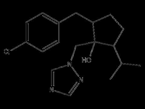 Ипконазол - Структурная формула