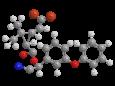 Дельтаметрин - Трехмерная модель молекулы