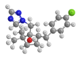 Метконазол - Трехмерная модель молекулы