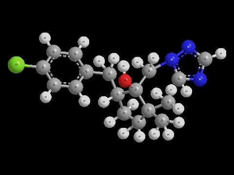 Метконазол - Трехмерная модель молекулы (транс-изомер)
