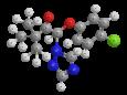 Триадимефон (Байлетон) - Трехмерная модель молекулы