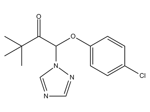 Триадимефон (Байлетон) - Структурная формула