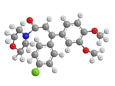 Диметоморф - Трехмерная модель молекулы