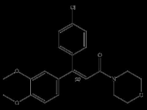 Диметоморф - Структурная формула