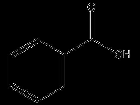 Бензойная кислота (в виде триэтаноламинной соли) - Структурная формула