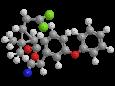 Зета-циперметрин - Трехмерная модель молекулы
