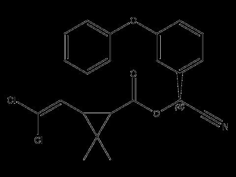 Зета-циперметрин - Структурная формула