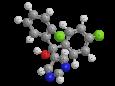 Фенаримол - Трехмерная модель молекулы