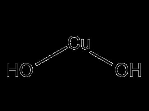 Меди гидроокись - Структурная формула