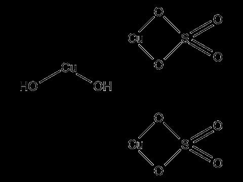 Меди сульфат трехосновный - Структурная формула