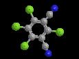 Хлороталонил - Трехмерная модель молекулы