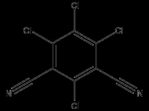 Хлороталонил - Структурная формула