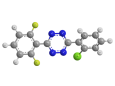 Дифловидазин - Трехмерная модель молекулы