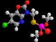 Азаметиофос - Трехмерная модель молекулы